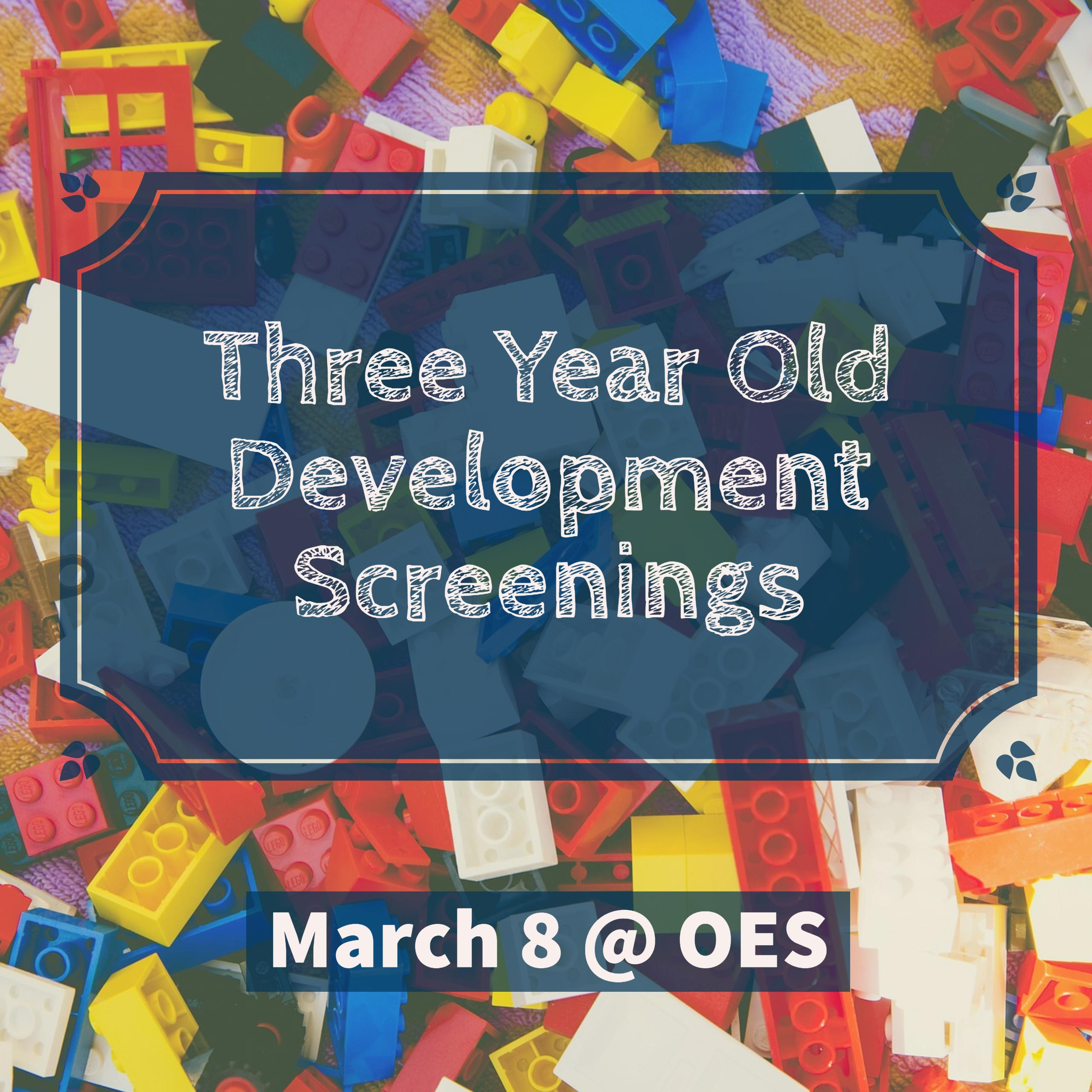Three Year Old Screenings