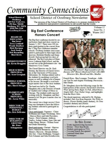 Winter 2017 District Newsletter is now Available