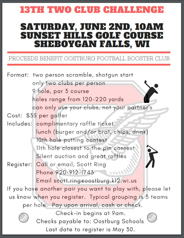 Two Club Golf Outing for OHS Football