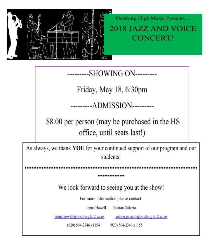 Jazz and Voice Concert Tickets
